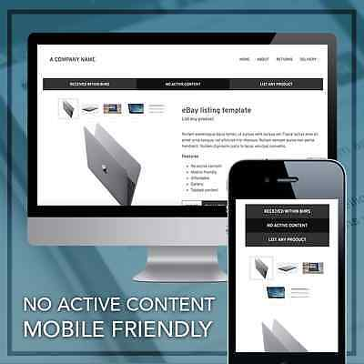 eBay Responsive Listing Template Mobile Friendly Design 2020