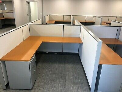 Modern Office for a Great Price - Herman Miller Canvas Cubicles