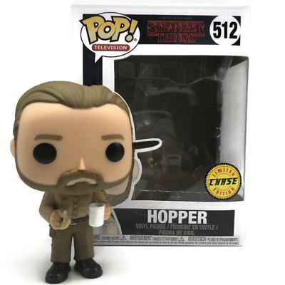 Funko Pop! Vinyl Chase Edition BNIB – Hopper with Donut – Stranger Things (#512)