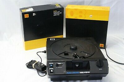 Kodak Carousel 4400 Slide Projector 102 mm Lens Extra Tray Remote TESTED