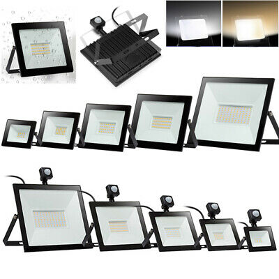 LED Floodlight PIR Sensor Motion 10/30/50/100W Outdoor Security Flood Light IP66