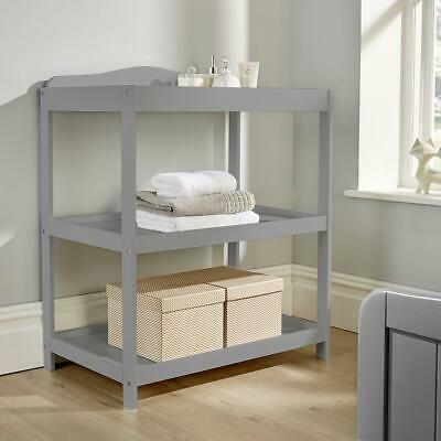 Regent Grey Pine Baby Changing Table Nursery Wooden Dresser Station 2 Shelves