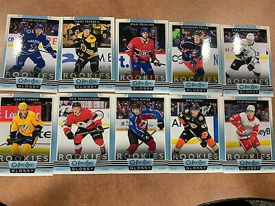 2019-20 UD Upper Deck Series 1 OPC O-Pee-Chee Glossy Rookies COMPLETE set HUGHES