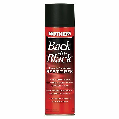 Mothers 06110 Back-to-Black Trim & Plastic Restorer Aerosol, 10 oz.