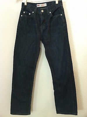 Levis Boys jeans blue dark wash 514 size 12 regular 26 X 26