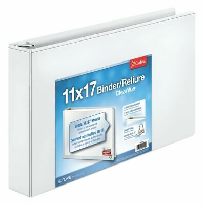 "Cardinal Slant-D Ring 11"" x 17"" Tabloid ClearVue Binders, White"