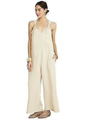 Hatch Maternity Women's THE NOA JUMPER Sand Linen Blend Size 3 (LRG/12) NEW