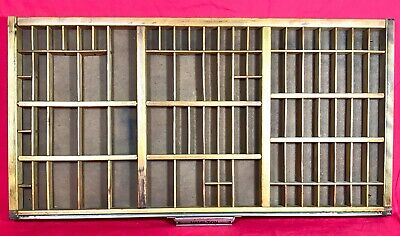 VINTAGE PRINTER'S TYPE SETTER TRAY DRAWER 16 X 32  made by HAMILTON MFG