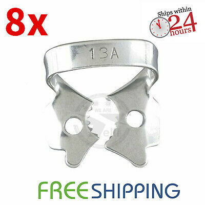 Pack of 8 - Dental Rubber Dam Clamp #13A Endodontic Surgical Instruments