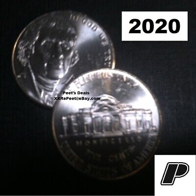 2020 P&D Jefferson Nickels from BU Bank Rolls