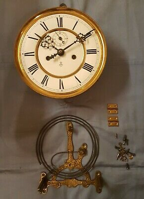A Original Gustav Becker Wenna Regulator Movement For Parts Or Projects, 1890'S