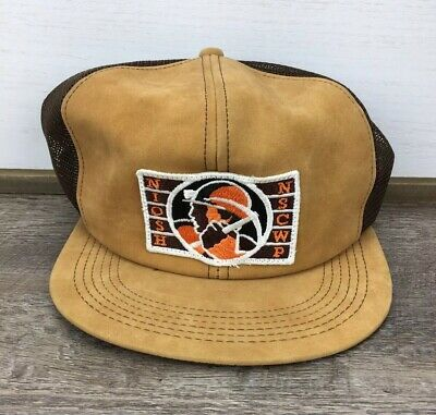 Rare VTG Coal Miner NIOSE NSCWP K Brand Products Patch Trucker Hat Cap Made USA