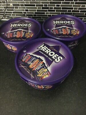 Empty Hero's Tubs x3 : Confectionery Containers / Plastic Storage Boxes