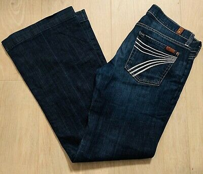 Ladies Seven 7 for All Mankind Dojo  Blue Jeans W29 L31 Uk 10 with stretch