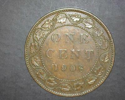 Canada 1906 Large Cent Km8 Extremely Fine ~Wc321