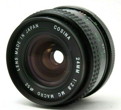 COSINA 24mm 1:2.8 MC Macro Lens For Yashica CONTAX *As Is* #AB13g
