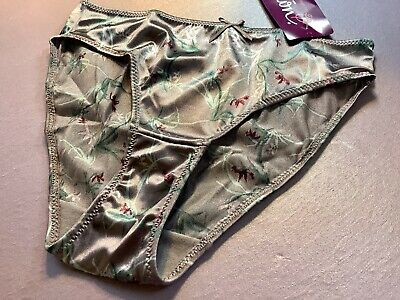 "Women Panties,Bikinis""ILUSION""Size S. Floral Satin Soft Shiny W/Decoration Mexic"