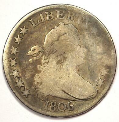 1806 Draped Bust Half Dollar 50C - VG Details Condition - Rare Early Coin!