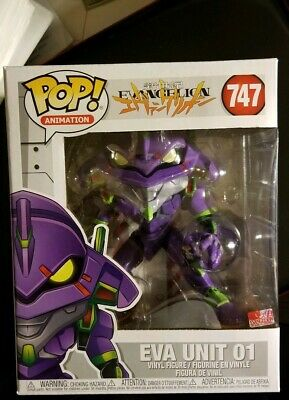 Funko POP! Animation Evangelion 6 Inch Eva Unit 01 - 747 Mint
