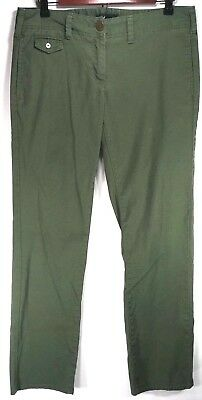 Tommy Hilfiger Womens Skinny Pants Size 6 Green Slim Stretch Cotton Trousers