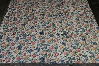 BEAUTIFUL VINTAGE POLISHED COTTON FABRIC BEDSPREAD THROW  c.1940s 182cm x 238cm
