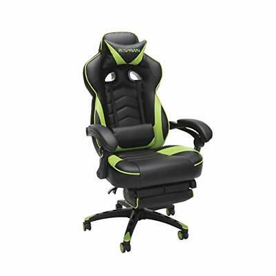 RESPAWN 110 Racing Style Gaming Chair, Reclining Ergonomic Leather Chair Green