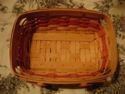 Longaberger Basket About 9 Inches x 12 Inches