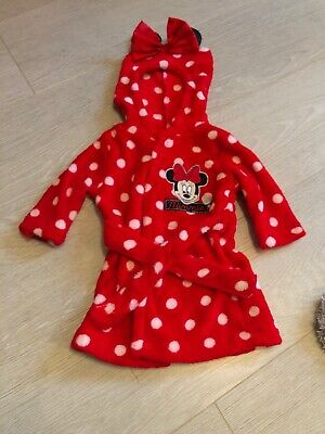 Disney Minnie Mouse Baby Girls Dressing Gown 0-3 Months