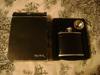 Bey Berk 4 Oz. Stainless Steel Flask With Funnel Unused
