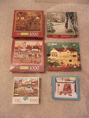 24 Charles Wysocki Americana Puzzles 1000 Pieces Assorted Complete