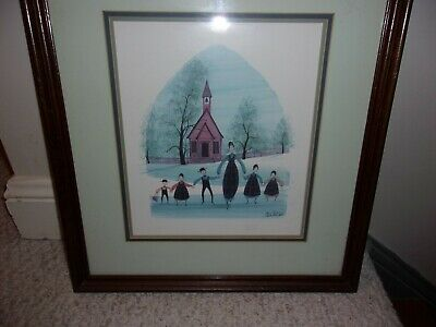P. Buckley Moss Art Print Signed 1986 School Days Limited to 1000