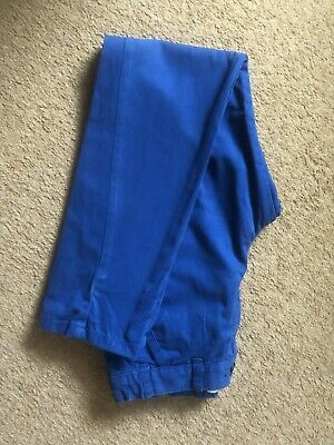 Boys Twisted Leg Bright Blue Jeans Chino's Age 9-10