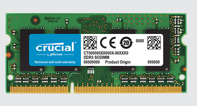 Memoria Crucial 8Gb Ddr3 1600Mhz So-Dimm Cl11 1,35V