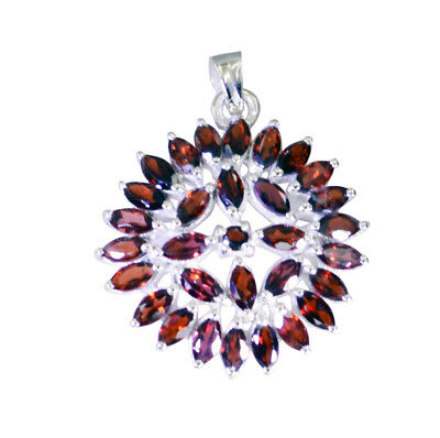 grand Garnet 925 Sterling Silver Red Pendant genuine supplies US gift