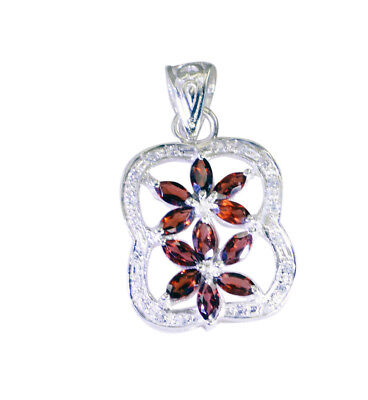 enticing Garnet 925 Sterling Silver Red Pendant Natural exporter US gift