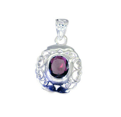 Top Grand Garnet 925 Sterling Silver Red Pendant Natural jewelry US gift
