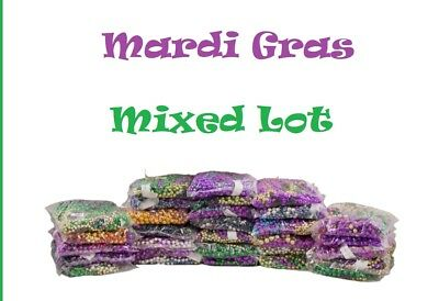 Mardi Gras Throw Beads Mixed Assorted Lot of Colors Let the Good Times Roll M12