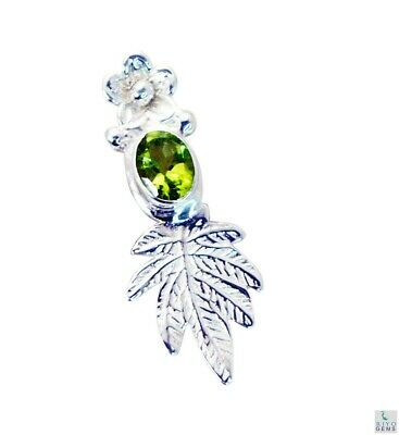 indian 925 Sterling Silver grand Natural Green Pendant UK gift