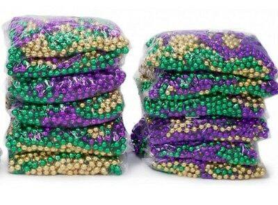 Mardi Gras Throw Beads Purple Green Gold Assorted Lot Let the Good Times Roll M2