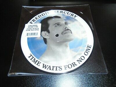 """Time Waits For No One 7"""" Picture Disc Single - Freddie Mercury Queen"""