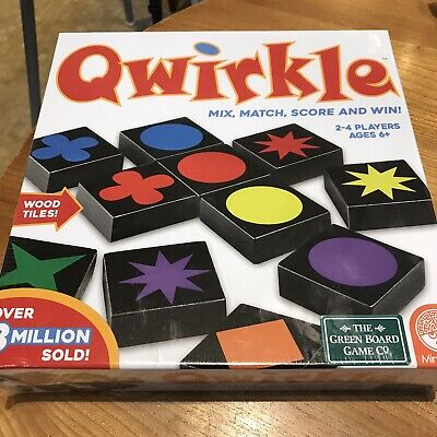 Qwirkle Game - 2019 New And Sealed The Green Board Game Co MindWare