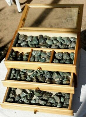 135 Pre-Columbian - Hand Carved Jade Mayan Heads - Holed For Stringing Jewelry?