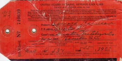 US: IRS Lien Card, Red, Treasury Form 105 (32562)