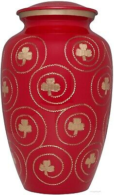 Red Clover Irish Cremation Urn Large Adult - Funeral Urn Human Ashes