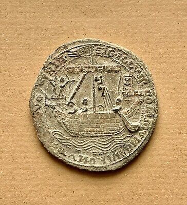 AN IMPORTANT HISTORICALLY ENGLISH MEDIEVAL LARGE LEAD SEAL OF DOVER (ca AD 1284)