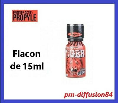 POPPERS - TIGER  RED - Pour une ambiance relaxante et stimulante - Flacon 15 ml