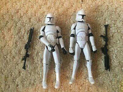 Hasbro Star Wars Lot 2 Clone Troopers Clone Wars 3.75 Action Figure