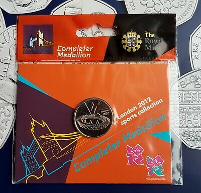 London Olympic Games 2012 Completer Medallion For 50P Coin Set Album Sealed New