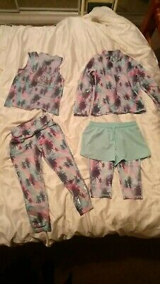 Girls Age 7 Years Next 4Piece Set Tracksuit Shorts Pants Jacket Top Matching