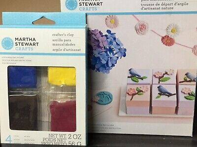 Martha Stewart Crafters Clay Nature Starter Kit & Extra Air Dry Clay